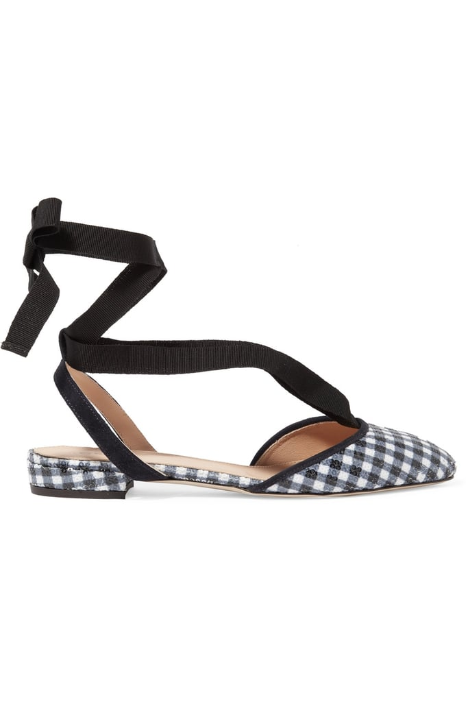 This gingham-print flat from J.Crew ($140) is affordable, trendy, and wearable. What more could you want in a shoe?