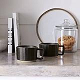 Stoneware Latte Mug in Black