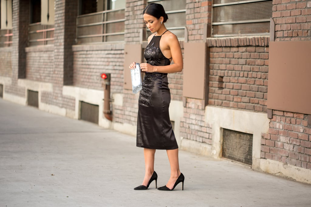 How To Style A Black Dress Popsugar Fashion