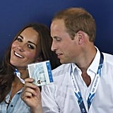 Prince William jokingly fanned Kate while they watched the swimming event during the Commonwealth Games in Glasgow, Scotland, in July.