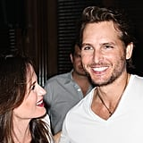 Elizabeth Reaser had a laugh with Peter Facinelli at the Breaking Dawn Part 2 party at Comic-Con.