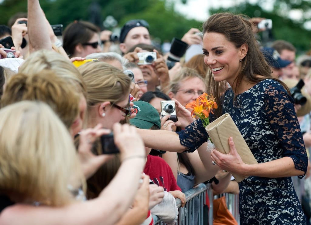 Kate Middleton was excited to meet fans in Canada.