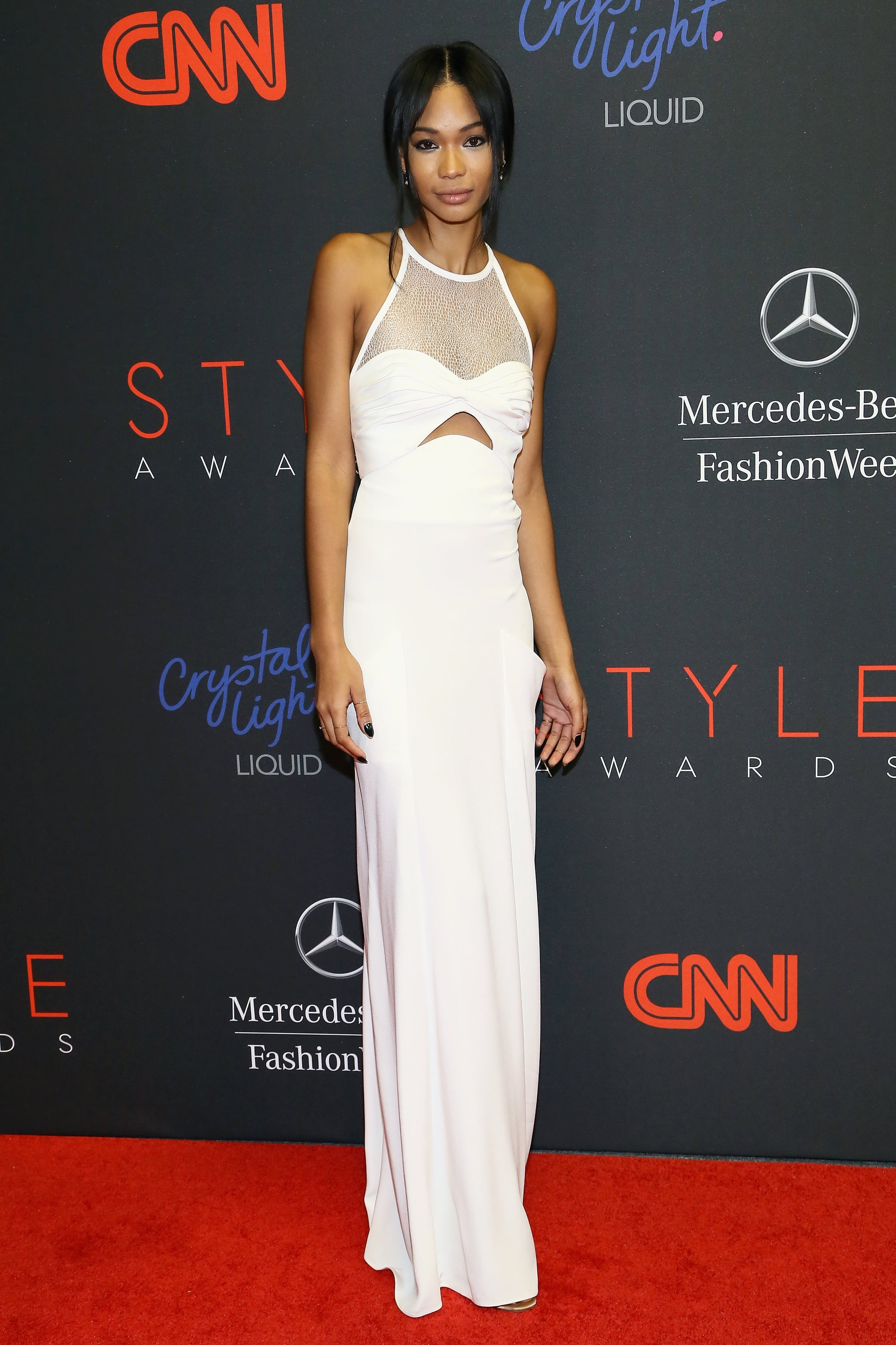 Chanel Iman wore white to the Style Awards.
