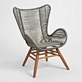Gray Nautical Rope Rapallo Outdoor Butterfly Chair