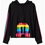 Torrid Disney Mickey Mouse Rainbow Black Crop Hoodie