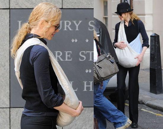 Photos of Nicole Kidman and Baby Sunday in London