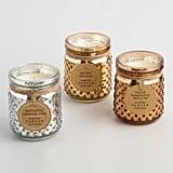 Gold Mercury Glass Hobnail Jar Candle ($15)