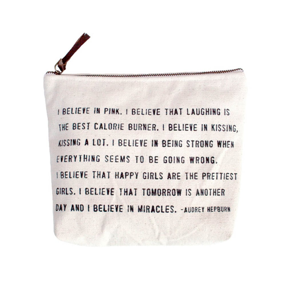 """I Believe"" Canvas Bag ($19)"