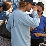 Owen Wilson snacked at a farmers market.