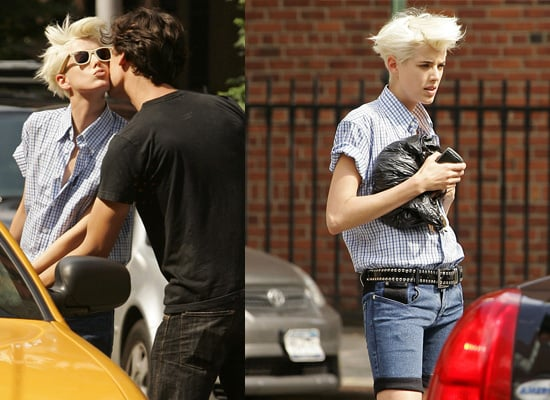 Agyness Deyn Replaces Angelina Jolie as the Face of Shiseido – is Pictured in New York