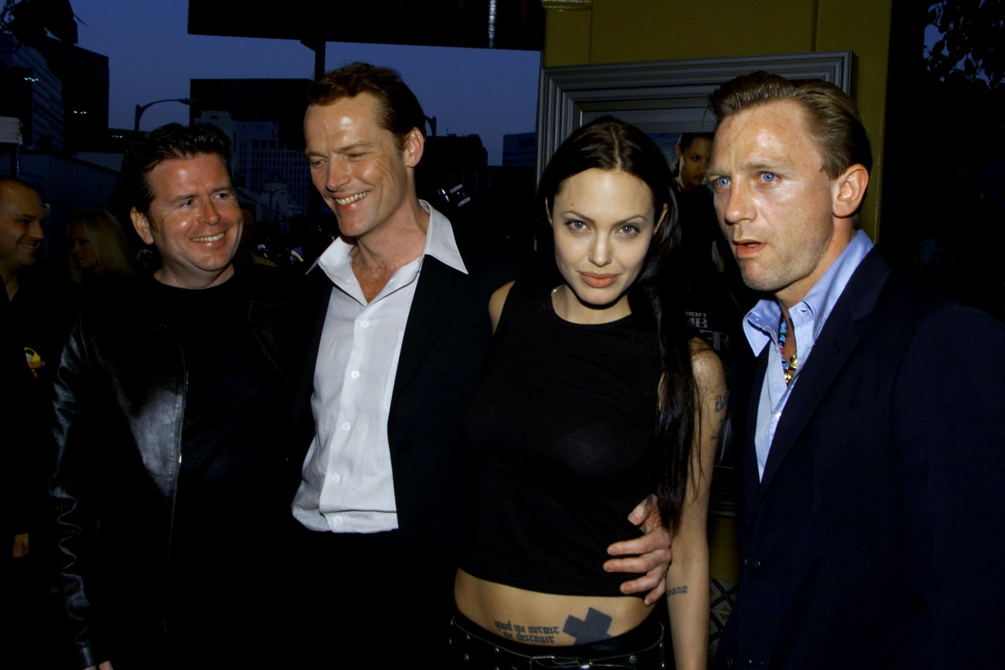 He Posed With Angelina Jolie And Daniel Craig At The 2001 Premiere