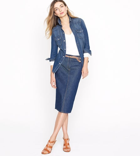For a '70s spin, pair this High-Waisted Denim Pencil Skirt in Rinse Wash ($18, originally $98) with knee-high boots, a fitted sweater,  and a wool coat. Once the weather warms up, swap out the boots for strappy sandals and the sweater for a loose silk top.
