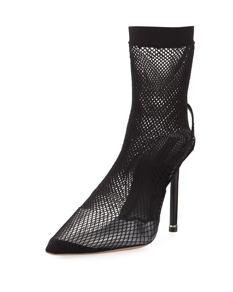 90a60b99138 Alexander Wang High Heel Fishnet Booties   Bella Hadid's Dior Lace ...