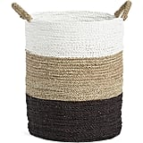Seagrass striped basket ($25)