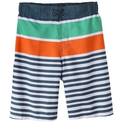 Boys' Stripe Swim Trunk