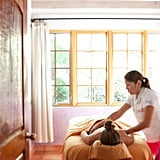 "After a day of classes, escape to the spa for a massage, wrap, or facial. All of the treatments focus on helping the body ""recover, relax, or energize."""