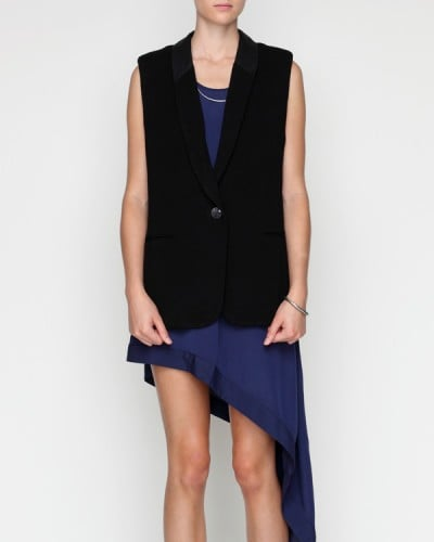 As an alternative to your usual blazer, opt for this sleeveless version to belt over your printed dresses for a more seasonal feel.  Need Supply Bellevue Blazer ($88)