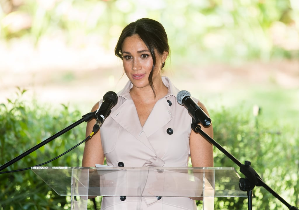 "Meghan Markle is ending her 10-day royal tour of Southern Africa with an important message for young people all over the world. On Wednesday, the Duchess of Sussex and Prince Harry attended an afternoon reception at the British High Commissioner's residence, where Meghan delivered her final speech of the trip. ""In a world that can seem so aggressive, confrontational, and dangerous, you should know that you have the power to change it."" ""I remember being a young girl watching TV and seeing what was happening in the world, and frankly, often feeling despair. When you constantly see and hear negativity, it can be overwhelming; you can feel powerless, and lost, you can feel different, confused, or like you just don't belong,"" she began. ""In a world that can seem so aggressive, confrontational, and dangerous, you should know that you have the power to change it."" Meghan then ended her speech by emphasising how important it is for everyone to be heard and respected. ""If you live your life in that way, your generation will start to value each other in ways the rest of us have not yet been able to do so,"" she said. Meghan and Harry's stop in Johannesburg marks the end of the couple's Southern Africa tour. It also comes just a day after it was announced that the Duke of Sussex had filed a claim against British tabloid company Associated Newspapers ""over the intrusive and unlawful publication of a private letter written by the Duchess of Sussex"" as part of a campaign to ""publish false and deliberately derogatory stories about her"" and him. In addition to the claim, Harry also released a statement on the official Sussex website, comparing the ""bullying"" of Meghan to that of his late mother, Princess Diana.  Watch Meghan's inspiring speech in full ahead.       Related:                                                                                                           Meghan and Harry Are Handing Out Free Hugs in Southern Africa"