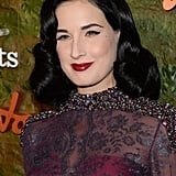 Dita Von Teese has mastered her vintage look, and we love this vampier lip hue for Fall.