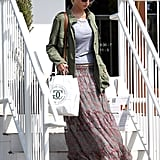 Jennifer Lawrence looked stylish while running errands.