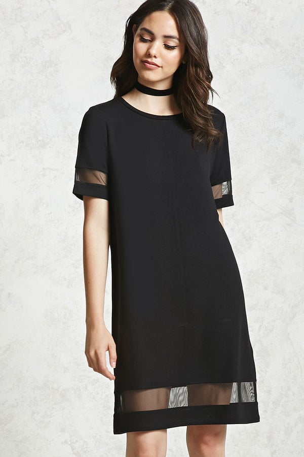 Forever 21 Contemporary Mesh Cutout Dress Best Black Dresses 2017