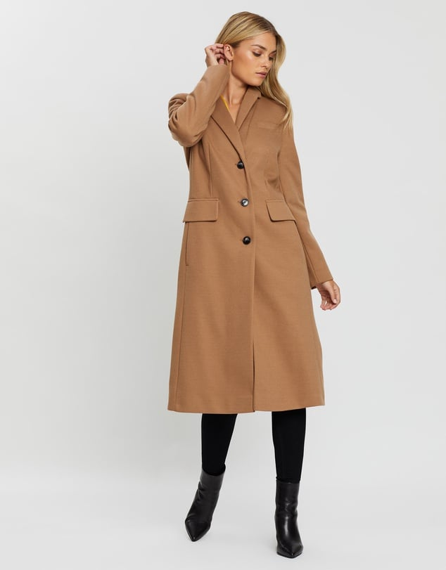Dorothy Perkins Longline Texture Fitted Coat ($139.95)