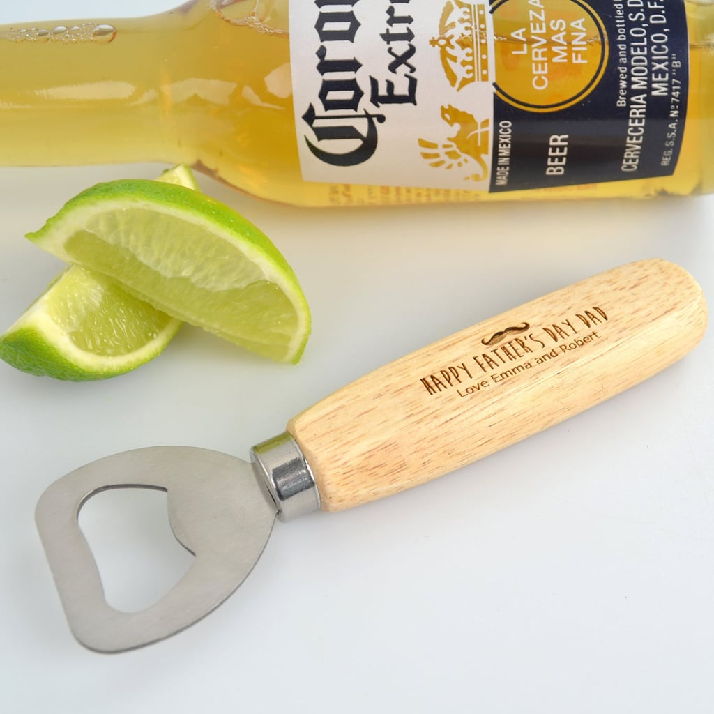 Engraved Father's Day Wooden Handle Bottle Opener