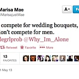 @MarisajustMae is against the bouquet toss (so are we).
