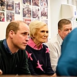 Prince William and Mary Berry at The Passage in London