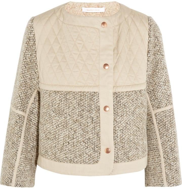 See by Chloé Wool-Blend Tweed Jacket ($565)