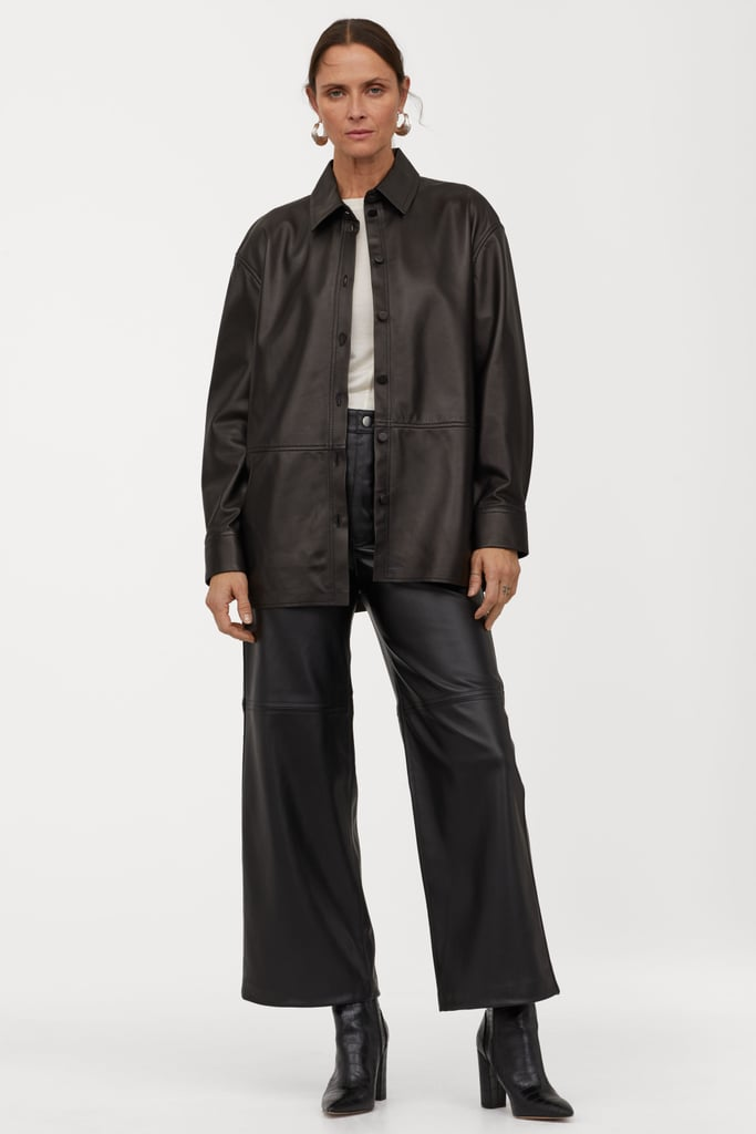 H&M Faux Leather Shirt and Pants