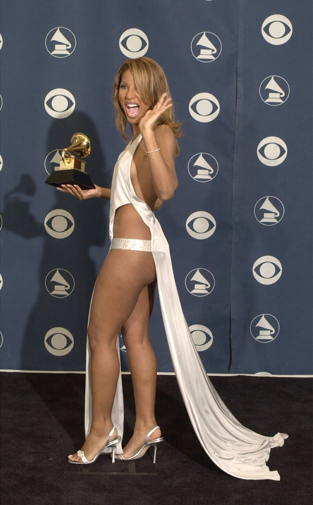 """Toni Braxton wore what looks like a """"thong-type"""" costume at the 2001 show."""