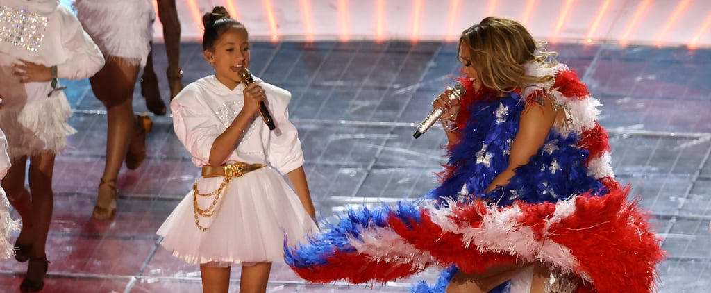 Jennifer Lopez's Daughter Emme Sings at the Super Bowl