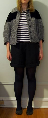 Look of the Day: Stripes and Tweed