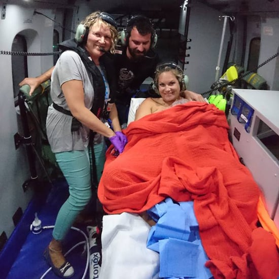 Baby Born in a Helicopter Over England