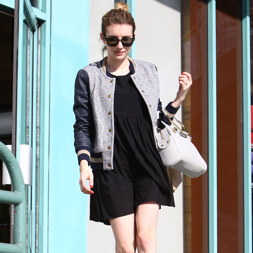 Emma Roberts's Bomber Jacket Outfit