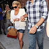 Jessica Simpson and Eric Johnson Pound the Pavement Hand in Hand