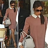 Victoria Beckham looks polished and sweet in her collared dress. Now we want one too!