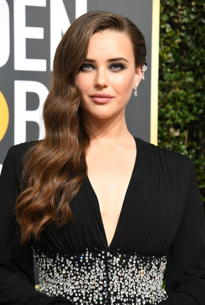 Katherine Langford Hair at the 2018 Golden Globes