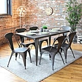 Metal dining table ($283)