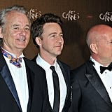 Bill Murray, Edward Norton, and Bruce Willis were all smiles at the opening night dinner of the Cannes Film Festival.