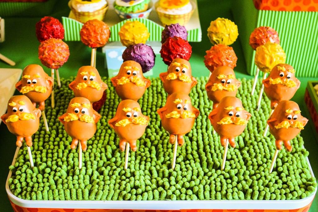 Lorax Cake Pops