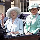 Pictured: Queen Elizabeth, the Queen Mother, Princess Margaret.