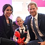 September: Meghan and Harry team up for the WellChild Awards, where they gave out honors for bravery and courage.