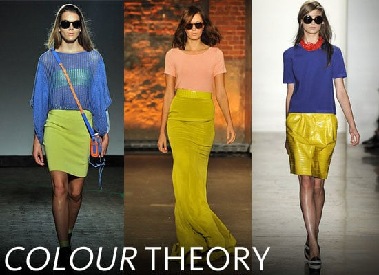 2012 Spring Summer New York Fashion Week Trend: Bright, Neon Colour Blocking at Peter Som, Christian Siriano and more