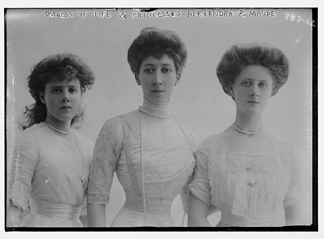 Princesses Maude (1893–1945), Louise (1867–1931), and Alexandra (1891–1959)