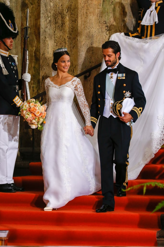 Princess sofia of sweden wedding dress popsugar fashion for Swedish wedding dress designer