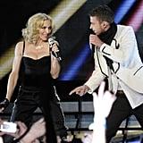 "Madonna and Justin Timberlake performed ""Four Minutes"" in NYC during her April 2008 Hard Candy tour."