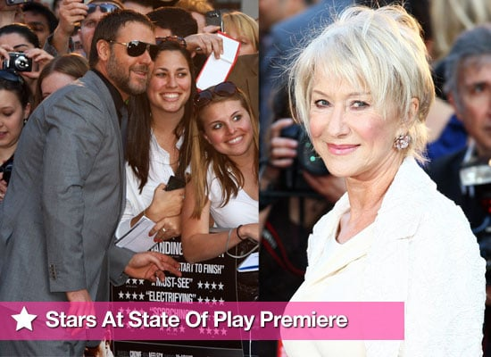 Slideshow Of Photos From State Of Play World Premiere In London With Russell Crow and Helen Mirren