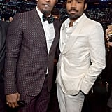 Pictured: Jamie Foxx and Childish Gambino